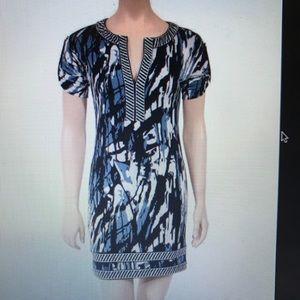 Blue and white Koe BCBG MaxAzria dress
